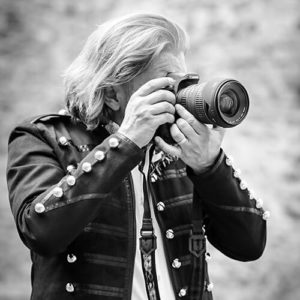Professional photographer Jan Wasserbauer with camera